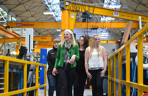 Siemens offer a wide range of apprenticeships, courses and support for women with the hope that the gender imbalance in the industry is levelled out. Photo: Emily Norton