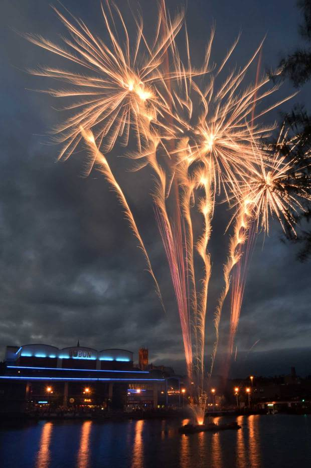 Fireworks at the 2014 Lincoln Festival. Photo: John Bennet for The Lincolnite