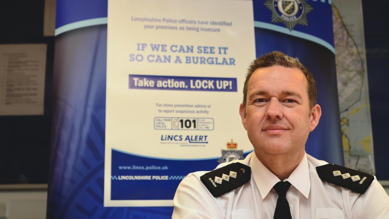 Stewart Brinn, Chief Inspector of Lincoln and West Lindsey, at the Help Yourself campaign launch. Photo: Steve Smailes for The Lincolnite