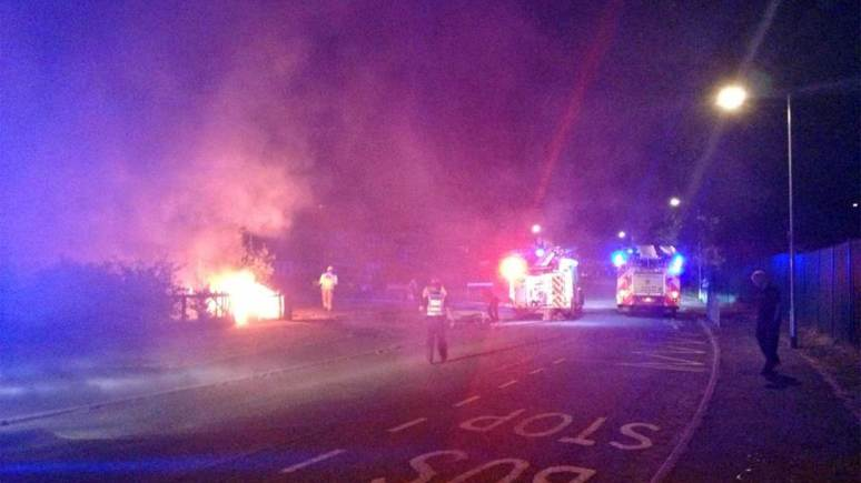 The fire on Turner Avenue. Photo: Aiste Staraite