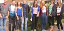 Sir Robert Pattinson GCSE students (L-R) James Kelly, Ryan Kelly, Lauren Kelly, Jack Fenton, Gemma Ruff, Georgia Robertson, Katie Alexander and Charlotte Moss.