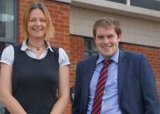 Julie and Andrew, who will train for 18 months in Lincoln to become solicitors.