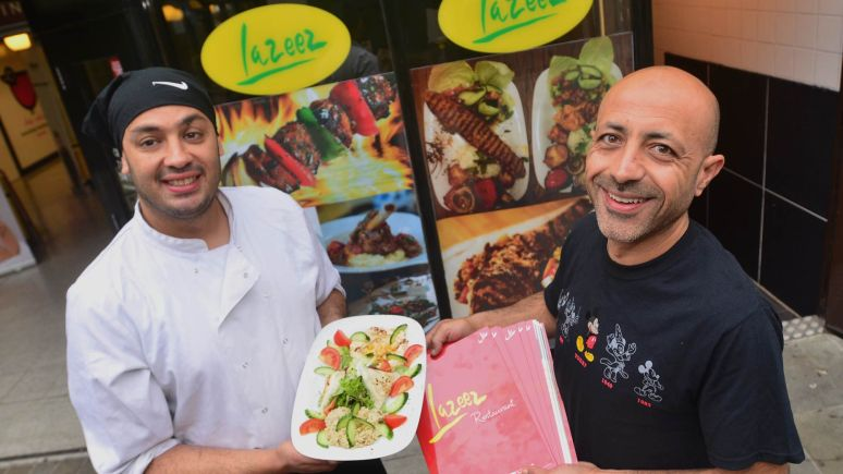 Lazeez owner Ayman Savi (Right) and chef Pas Eljay. Photo: Steve Smailes for The Lincolnite