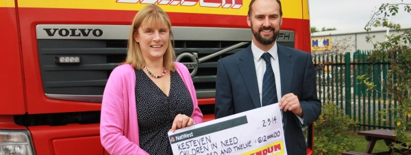 Construction company Lindum doubled the money their charity swimmers raised.