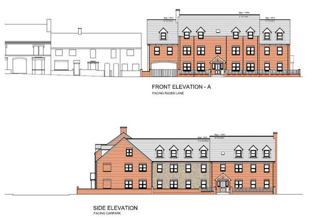 The visual plans for the part two-storey part three-storey apartments.