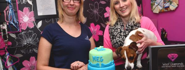 'Barkery' owner Rebbecca Hodgins (Left) now provides dog-friendly cakes and treats to a number of Lincoln businesses. Photo: Steve Smailes for The Lincolnite