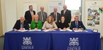 Signing the first Growth Deal in October 2014Photo: Steve Smailes for The Lincolnite