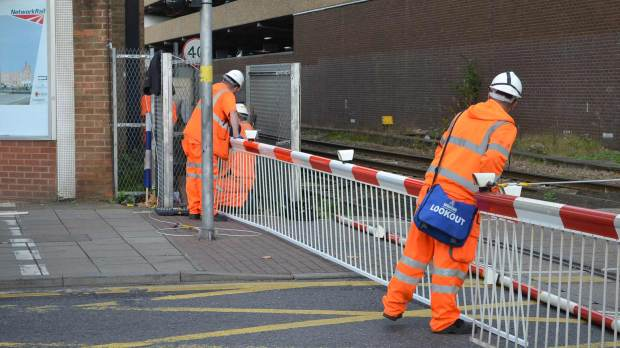 Network Rail were on scene to carry out repair works.