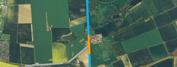 The section of the A15 will be closed for nine nights. Photo: Google maps