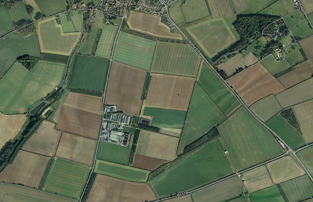 The solar farm will be located on land between Mere Road and Sleaford Road in Branston village. Image: Google maps