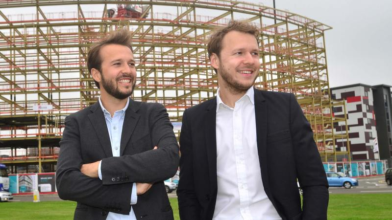 Cameron and Dominik Jackson from Jackson & Jackson Developments, the firm behind schemes in Lincoln including the recently completed Gateway on Tritton Road Roundabout. Photo: Steve Smailes for Lincolnshire Business