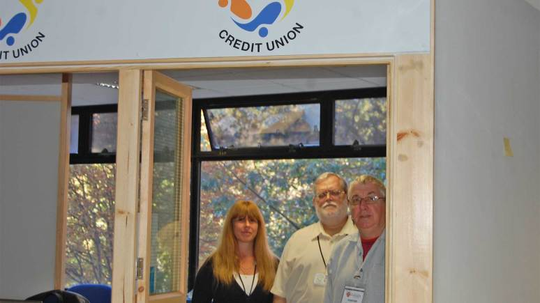 The Lincolnshire Credit Union team at their new office at City Hall. Photo: CoLC