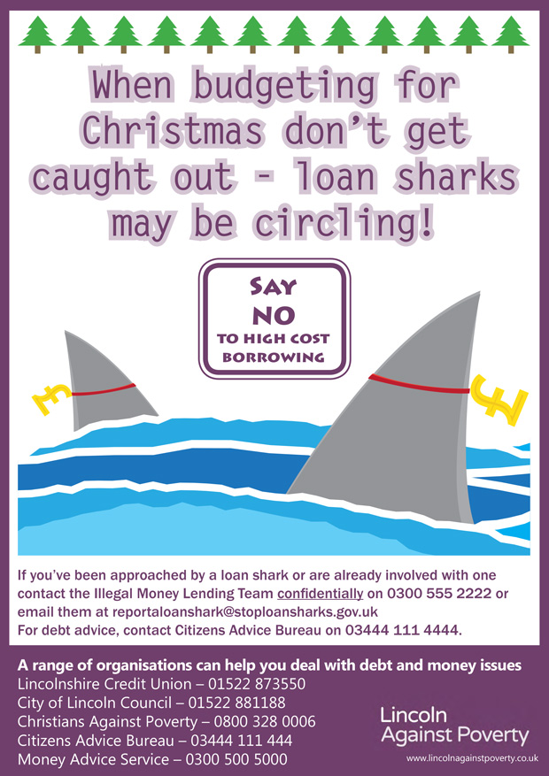 Posters are available to download and display in order to raise awareness of the risk of loan sharks.