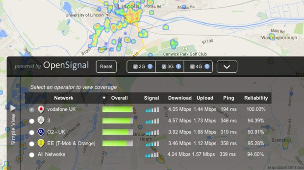 Advanced settings use crown-sourced data to determine the best coverage areas.