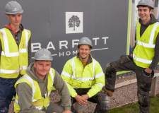 L-R:  Barratt Homes Apprentices Luke Swales, Robert Cantwell, Tom Kinsley and Tom Atkins.