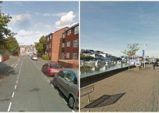 Two mountain bikes were stolen in separate incidents in Lincoln (L-R) Charlesworth Street and Brayford Wharf North.
