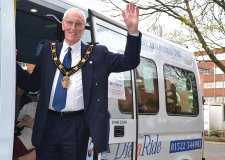 Mayor of Lincoln Councillor Brent Charlesworth chose Dial-a-Ride and Age UK as his charities of the year. Photo: Emily Norton