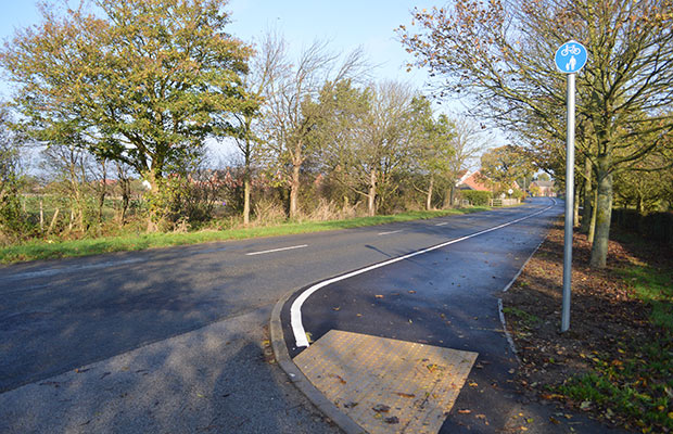 The new path is wider and safer for pedestrians and cyclists.