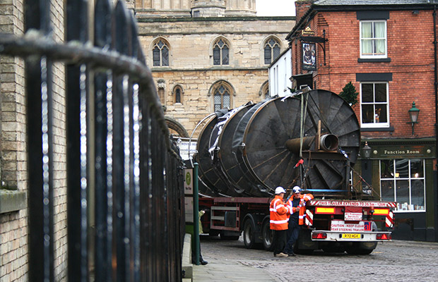 With less than for months to go until the Lincoln Castle big reveal, an army of staff are putting on the finishing touches. Photo: Emily Norton