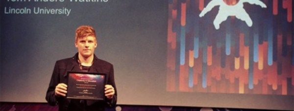 Student Tom Watkins won the coveted award for his work with Adobe.