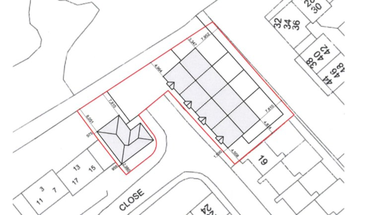 Plans for the new Birchwood council homes.