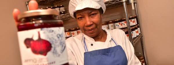 Jenny Smith jams, sauces and chutneys are now a highly sought-after product. Photo: Steve Smailes for The Lincolnite