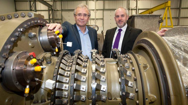 Turbine Efficiency's CEO Alan Hawkins and Yorkshire Bank's business development manager David Burgess at Turbine Efficiency's premises in Witham St Hughs.