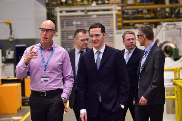 Chancellor George Osborne as he toured the Lincoln Teal Park Siemens facility. Photo: Steve Smailes for The Lincolnite