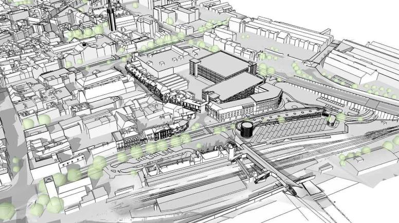 Plans for the new £25 million Lincoln Transport Hub. Artist Impression: John Roberts Architects
