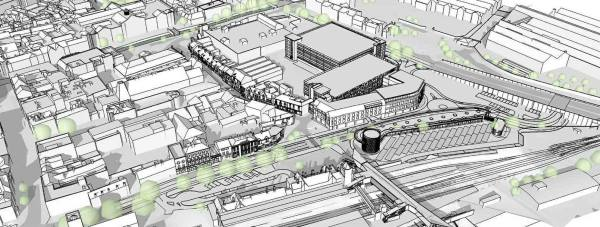 Plans for the new £25 million Lincoln Transport Hub. Artist Impression: John Roberts Architects