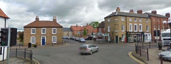 Temporary four-way traffic lights will be in place for two days at the Wragby Market Place junction. Photo: Google Street View