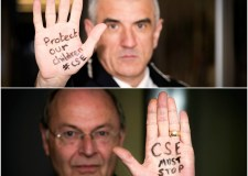 (Top to bottom) Lincolnshire Police Chief Constable Neil Rhodes and Police and Crime Commissioner Alan Hardwick supporting the campaign against child sexual exploitation.