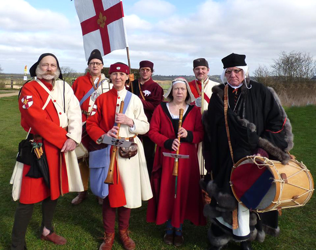 City of Lincoln Waites (the official band of the Mayor of Lincoln) led the medieval funeral procession, of The Kynges Guard, across Bosworth Battlefield on Saturday 22nd March 2015.