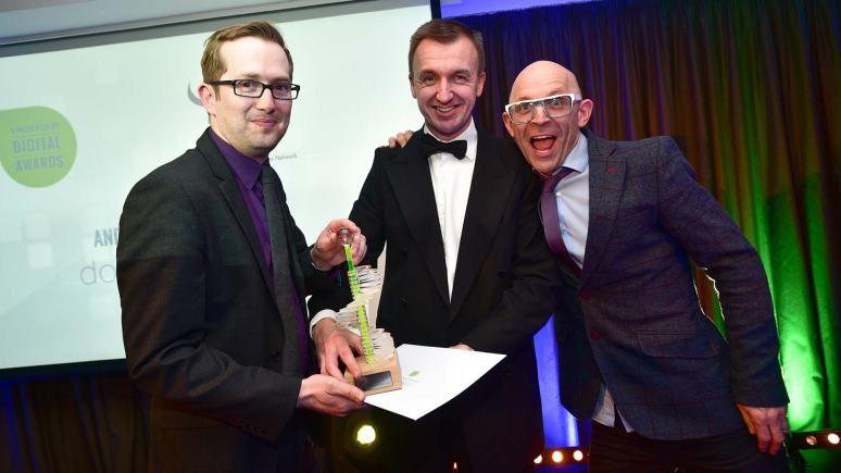 Winners of the Best Use of Digital Photography Double Red.  Photo: Steve Smailes for Lincolnshire Business
