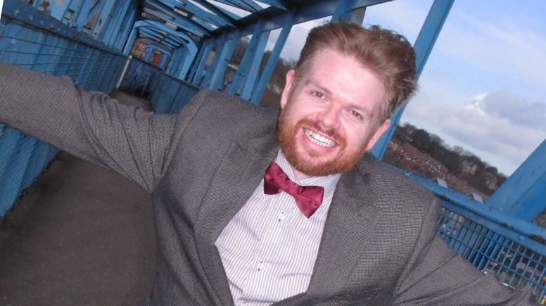 Lincoln actor Marcus Houden, who plays The Doctor in the touring Marvellous Me shows.