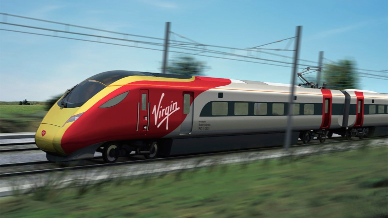 IEP new train in Virgin Trains East Coast livery. Image: Virgin Trains East Coast