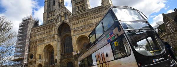 The new Tour Lincoln bus hits the roads this weekend in the run up to a summer of key events. Photo: Steve Smailes for The Lincolnite