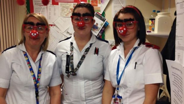 Lincoln County Hospital staff entering into the spirit of Comic Relief