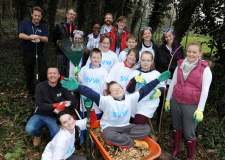 Pupils and staff at Monks Abbey School were joined by city council officers and University of Lincoln students to create a new wildlife garden last week.