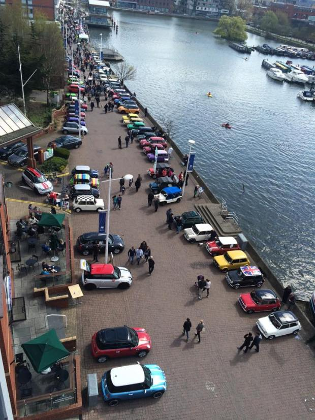 The Mini day viewed from the top of Doubletree by Hilton sent in by reader Chris Moss.