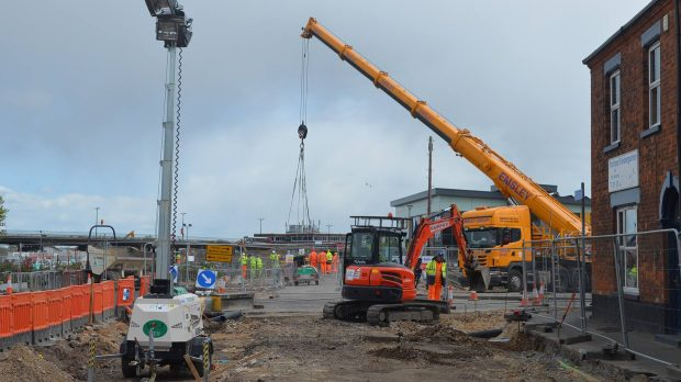 The works on the site are expected to reach completion by the end of 2016.