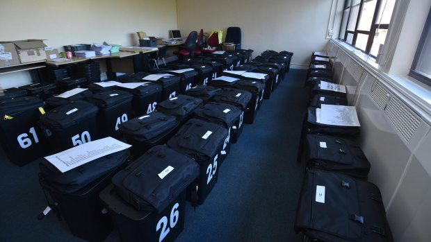 The council's new ballot boxes being prepared at City Hall. Photo: Steve Smailes for The Lincolnite