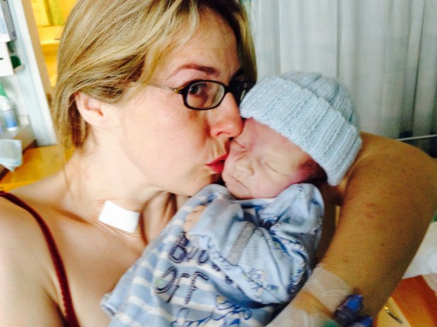 Michelle with baby Thor in the hour he lost his life.
