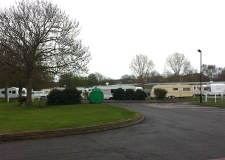 Caravans are parked illegally on the area near to the Grandstand in Lincoln. Photo: The Lincolnite