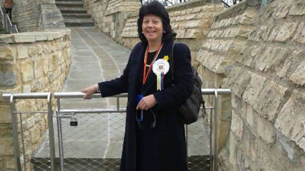 Helen Powell visiting Lincoln Castle