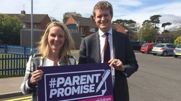 Tristram Hunt visited Hartsholme Academy on his trip to Lincoln on April 15