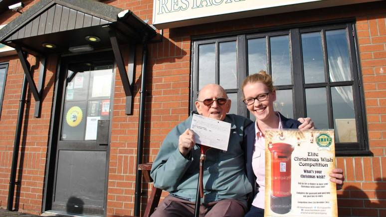 Arthur Harrison with Rachel  Tweedale from The Elite Fish and Chip Company