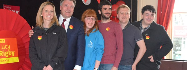 Lucy Rigby and supporters were joined by Ed Balls in Lincoln on the last day of campaigning. Photo: The Lincolnite