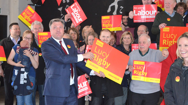 Ed Balls offered his support on the last day of campaigning. Photo: The Lincolnite