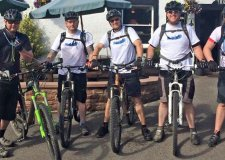 Dean (L), with his colleagues from Anglian Water, tracked 138 miles on their bikes for charity.